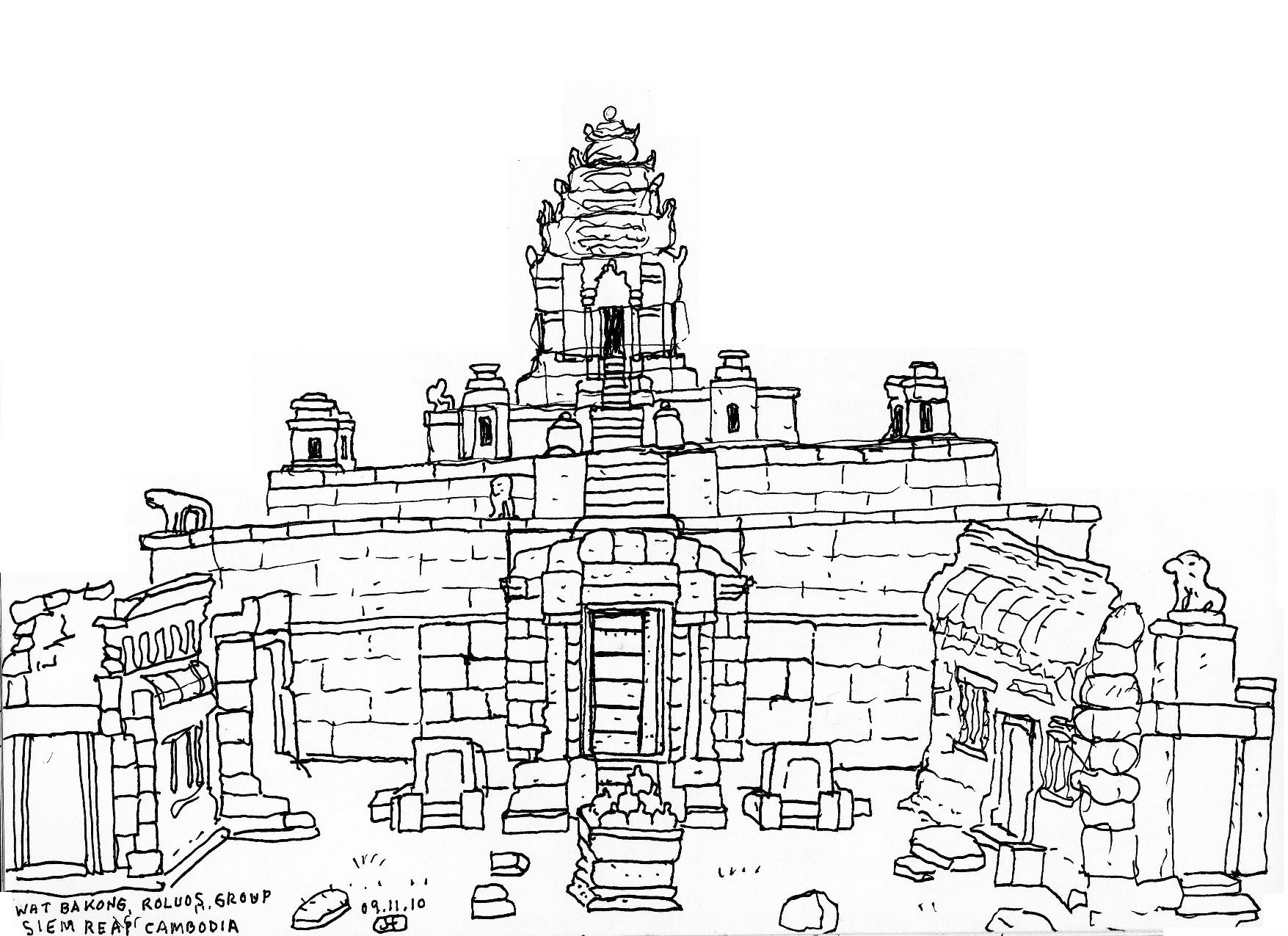 Cambodia Angkor Wat Drawing Angkor Wat Gallery |